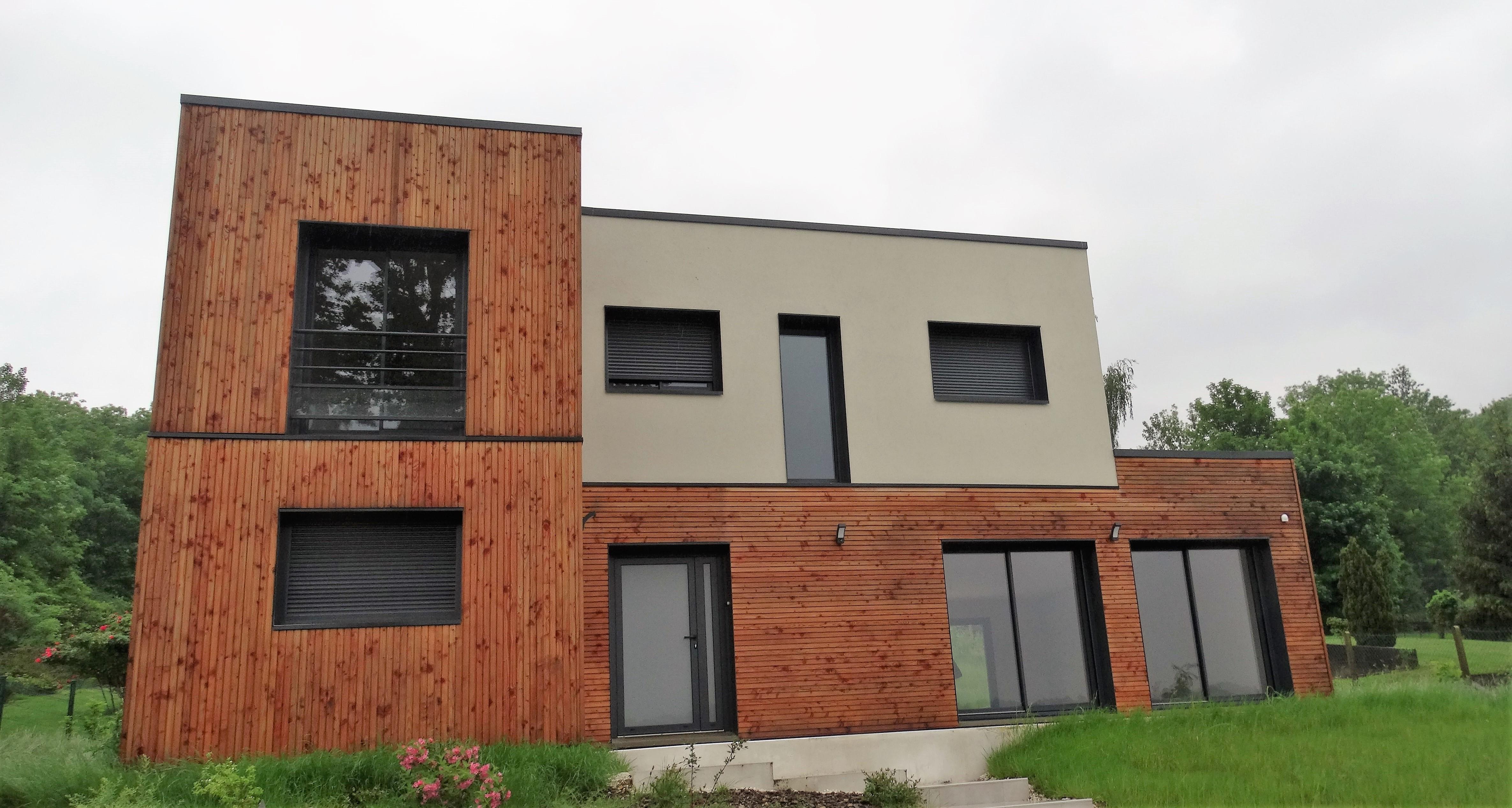 maison contemporaine en bords de marne 77 habitat poulingue. Black Bedroom Furniture Sets. Home Design Ideas