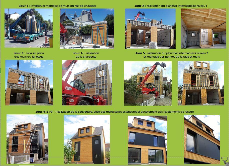 etapes de la construction d 39 une maison en ossature bois habitat poulingue. Black Bedroom Furniture Sets. Home Design Ideas